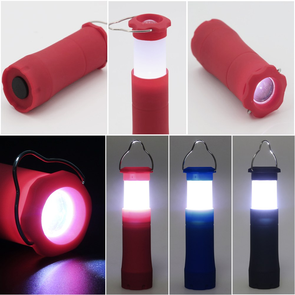 3W LED Flashlight Torch Hiking Camping Tent Lantern Light 200LM Portable Outdoor Lamp Black/Red/Blue