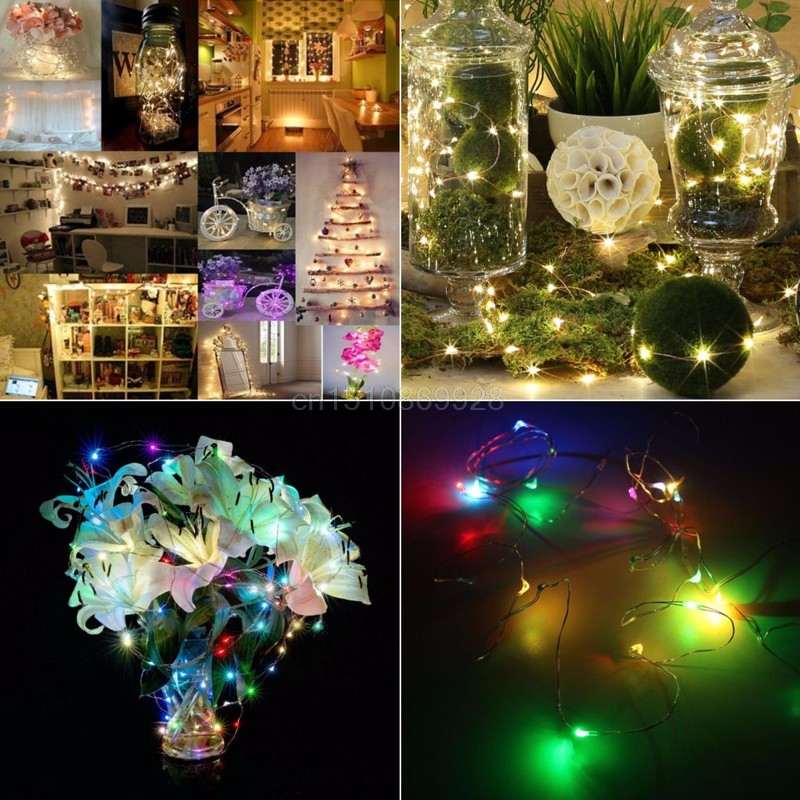 1/3M Wedding Lamp String Fairy Light 10 30LED Battery Operated Xmas Light Party Wedding Lamp