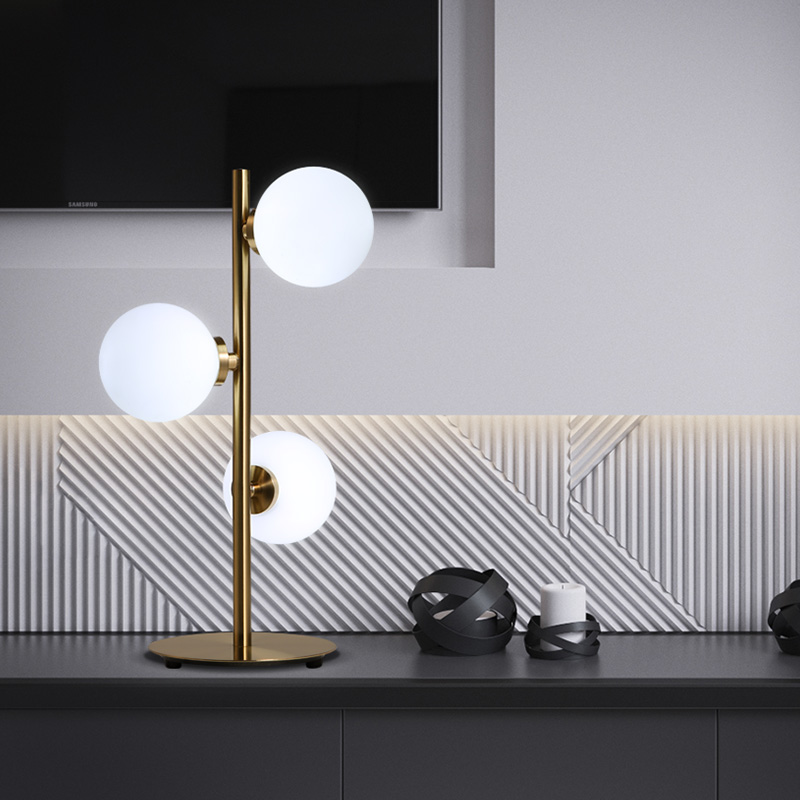 European fashion modern minimalist American personality study three bedroom living room lamp glass ball head warm lamp