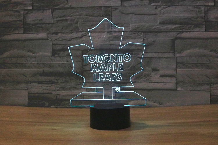 NHL Ice Hockey Toronto Maple Leafs LED Neon Light Sign home decor crafts 7colors changing Night Light Home Decoration