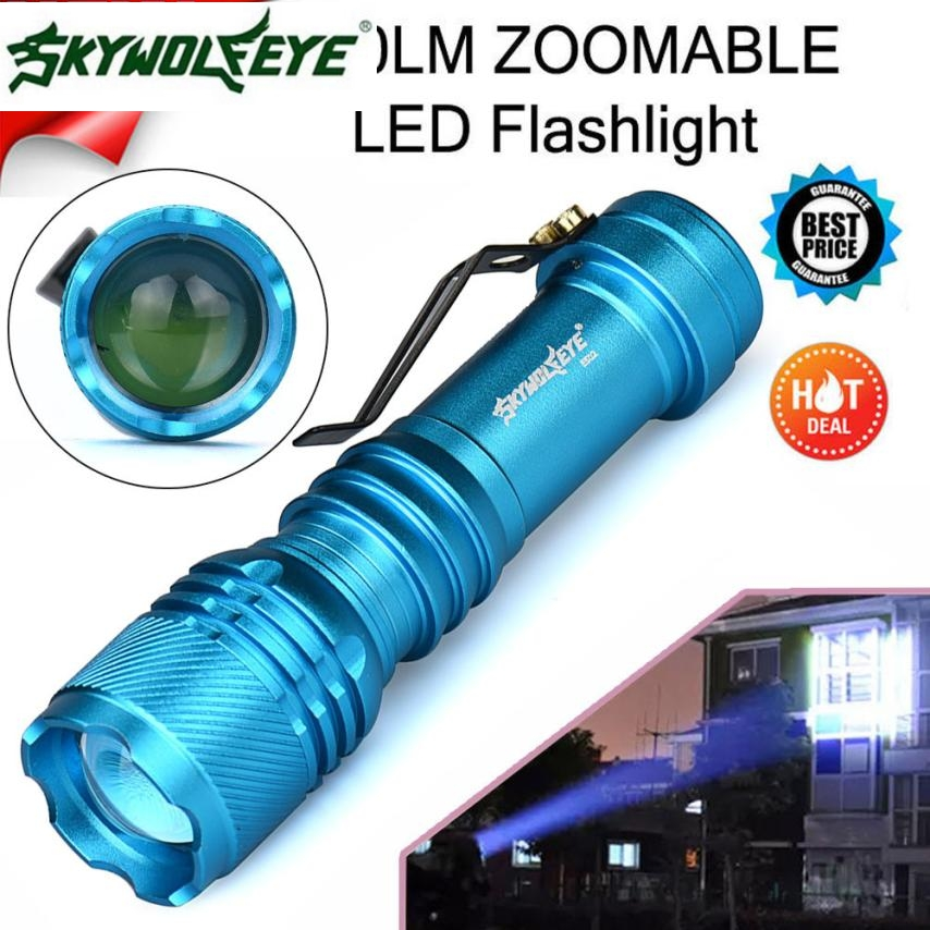 DC 27 Shining Hot Selling Fast Shipping   6000LM CREE Q5 AA/14500 3 Modes ZOOMABLE LED Flashlight Torch Super Bright
