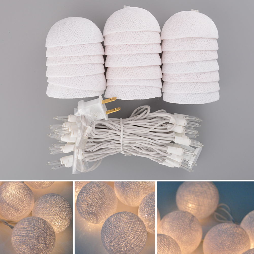 Aladin Romantic Gorgeous 3M 20 Tone Creative Cotton BALL String Light For Xmas Feast Banquet Ornament