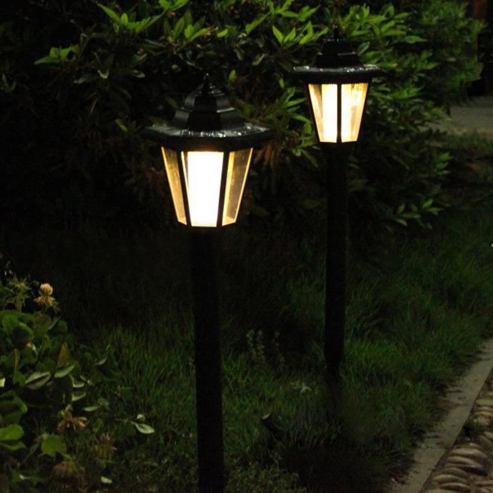 7 LED Solar Spot Lights White /& Warm White Outdoor Pathway Back Garden Lawn Lamp
