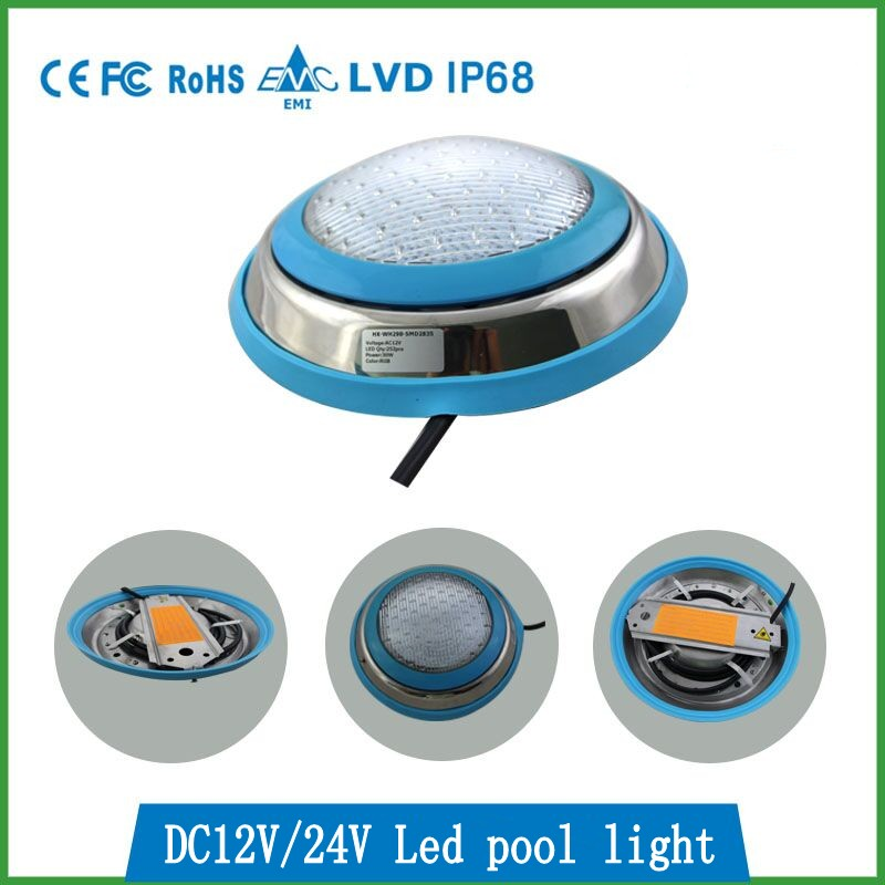 LED Swimming pool light 54W/36W/27W/18W AC/DC 12V/24V RGB IP68 DMX / LED remote control underwater Lamp Pond Outdoor Lighting