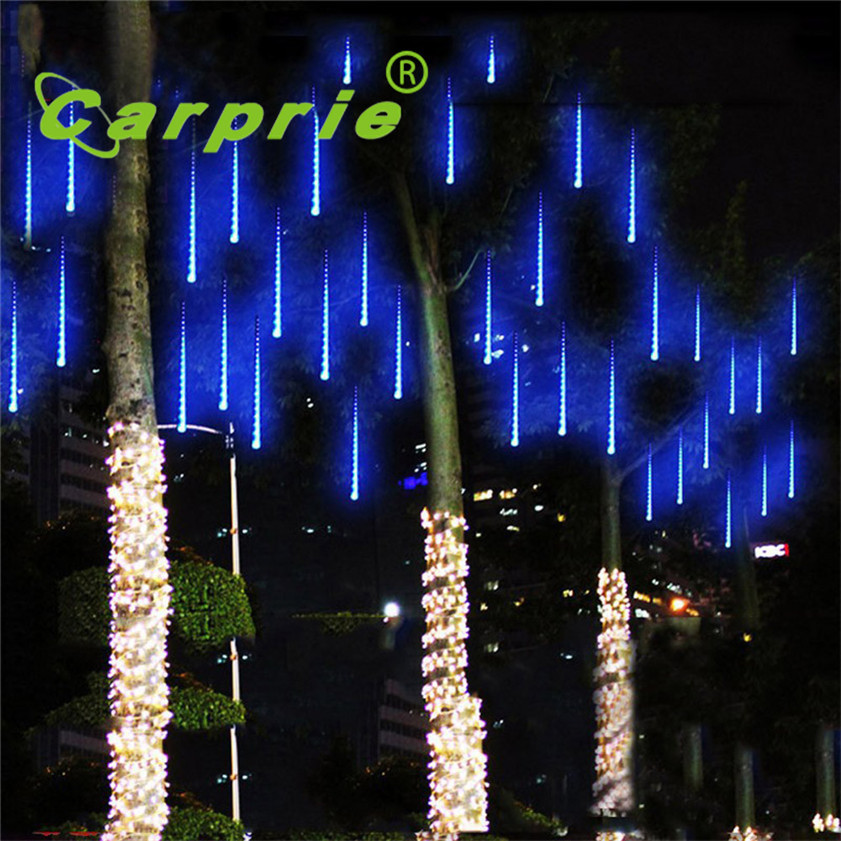 Super 50CM LED Lights Meteor Shower Rain Snowfall Xmas Tree Garden Outdoor US plug 170104