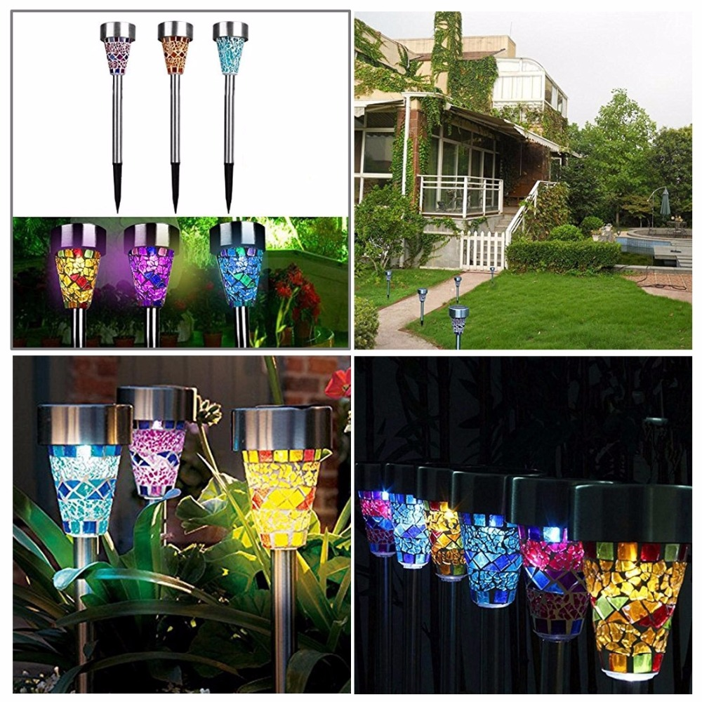 3pcs/Lot High Quality Led Solar Powered Rechargeable Garden Light Saving Energy Outdoor Decoration Lamp Waterproof Lawn Lights