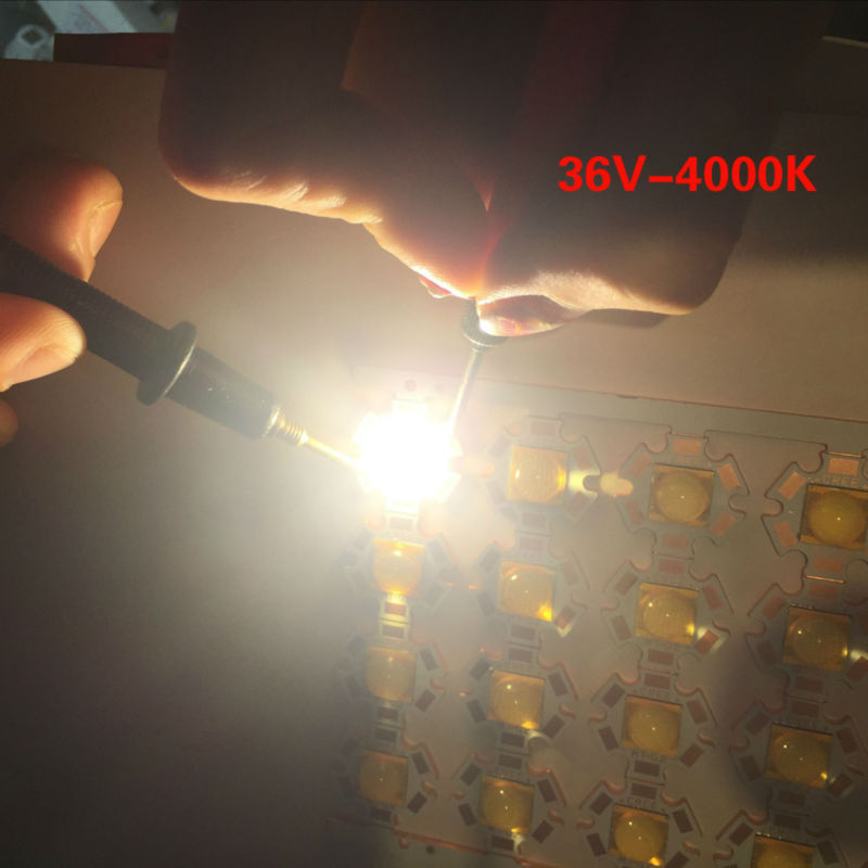 Freeshipping 10PCS Cree XLamp MTG-2 MTG2 18W 36V 36 v lights Neutral white 4000K 20mm Star Base Copper plate