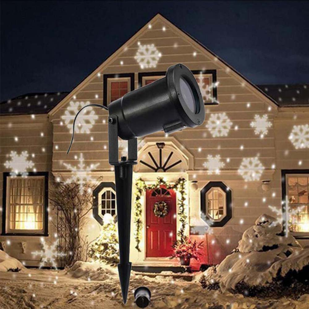 Snowflake Christmas Projector Light Outdoor waterproof Landscape Lighting Garden Party Decoration,Wedding Party Spotlight
