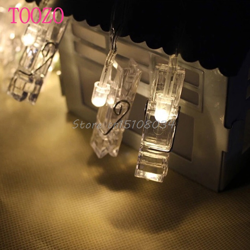 1.2M 10 LED Card Photo Clip Light 3xAA Battery Party Wedding Home Decoration #S018Y# High Quality