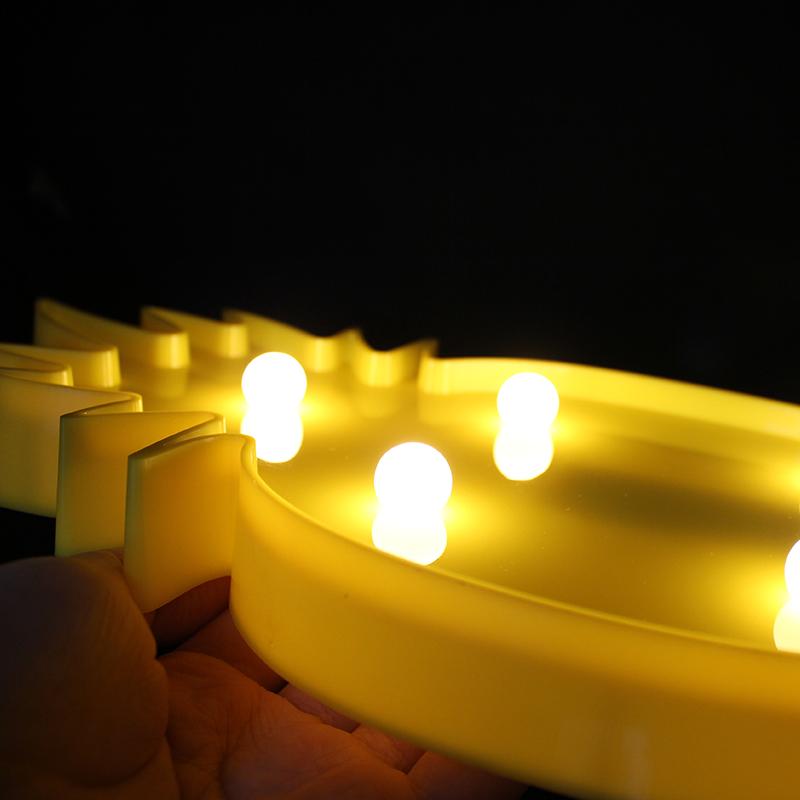 3D Flamingo Pineapple Cactus LED Letter Night Light Lamp For ...