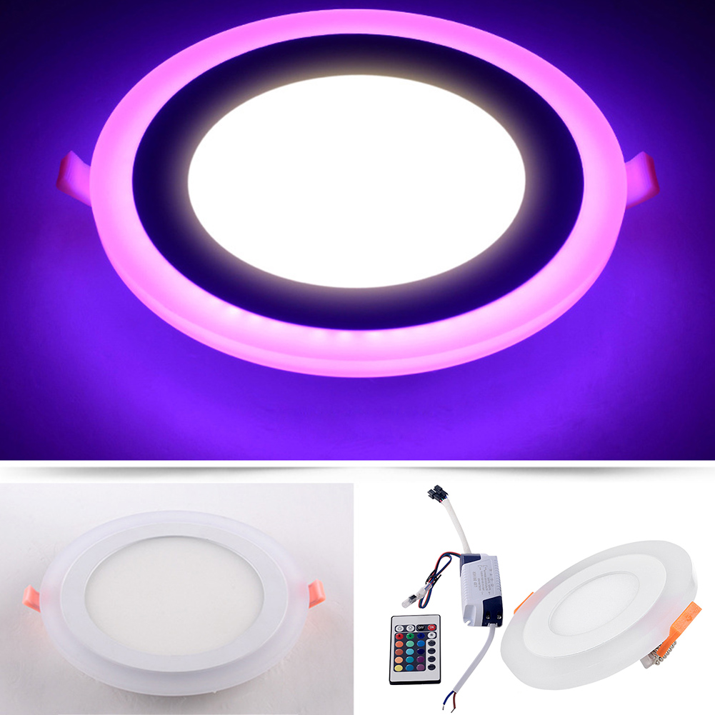 4pcs LED Panel Light RGB with Remote Control Surface Mounted Ceiling Recessed Downlight Watts 5W/9W/16W Round/Square LED Lamp