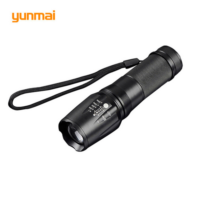 Powerful Aluminum LED Flashlight xm-l u2 4000LM Led Light Torch Lamp by Rechargeable 26650/18650/AAA Battery Use Hunting