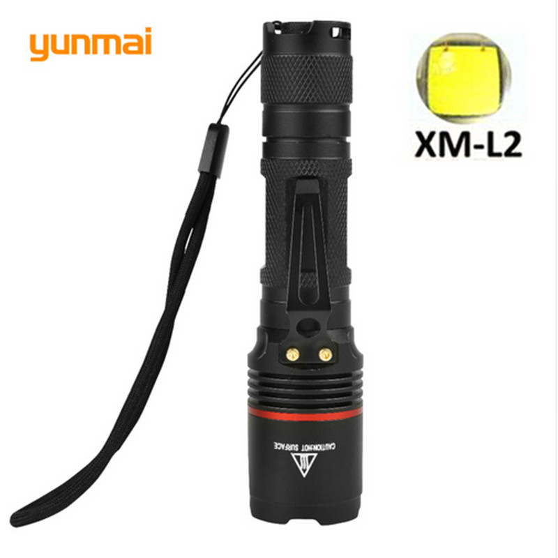 Powerful Led Flashlight  CREE Torch XM-L2  2000Lumen Led Diving Flashlight  Rechargeable Battery Tactical Flashlight Lanterna fo