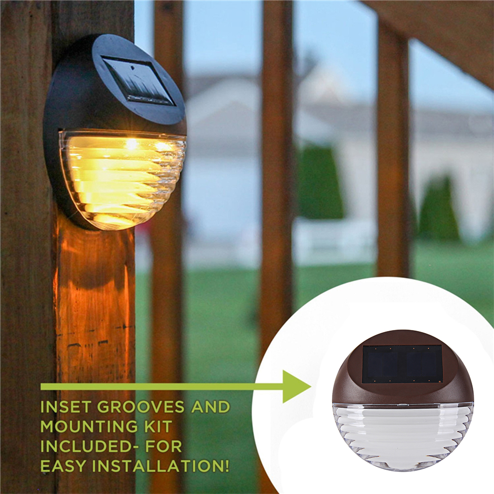 4pcs Lot Led Outdoor Solar Fence Light 2led Solar Light Warm White Waterproof Ip55 Garden Pathway Wall Lamp Lot 4 Pieces Lot Specifications Price Quotation Ecvv Industrial Products