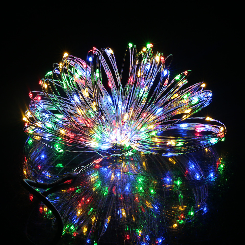 10M/33FT 100LED Silver Wire String Fairy Light DC 12V For Christmas Wedding Party LED Lights Room Decoration Hot Sale