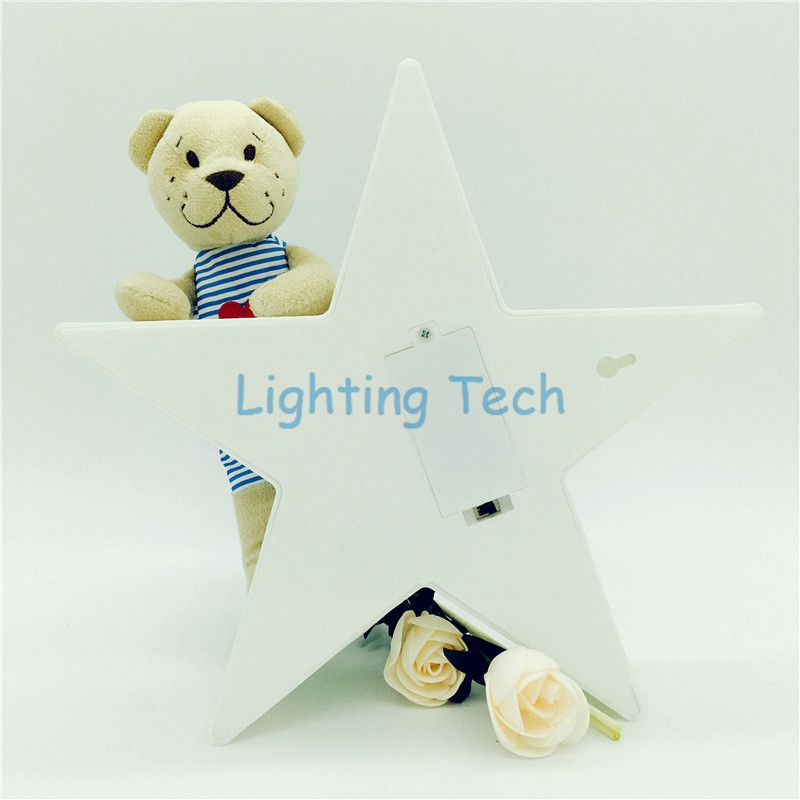 1 X 11Leds Warm White Romantic Star Table Lamp Night Light 2AA Battery Operated Baby Room Bedside Home Decorations LED Lights