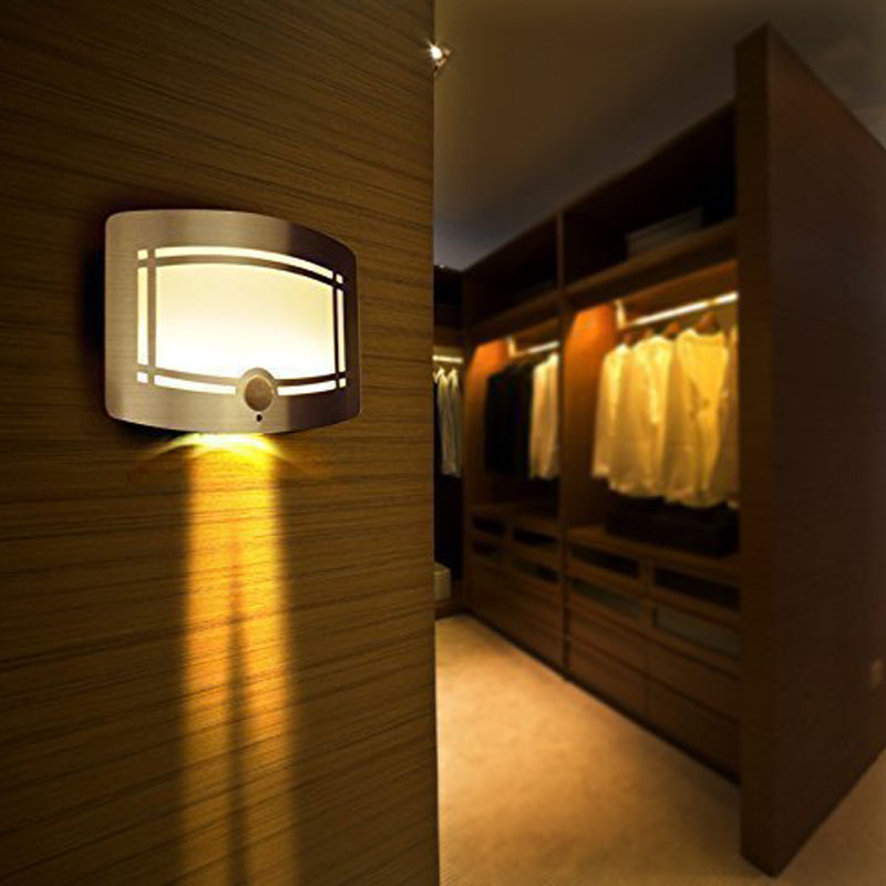 Motion Sensor Activated LED Porch Lights Wall Sconce Light for Hallway/Pathway/Staircase/Wall CLH