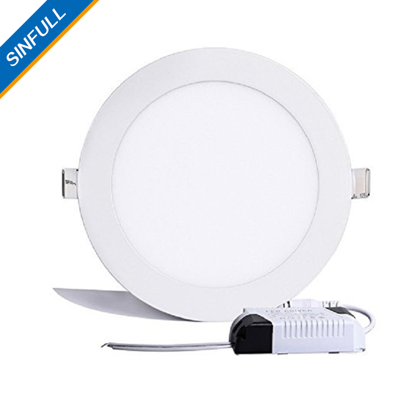 24W Round LED Panel Lights Ultra-thin Recessed Ceiling Lights bathroom kitchen AC85-265V LED DownLights home decor lighting lamp