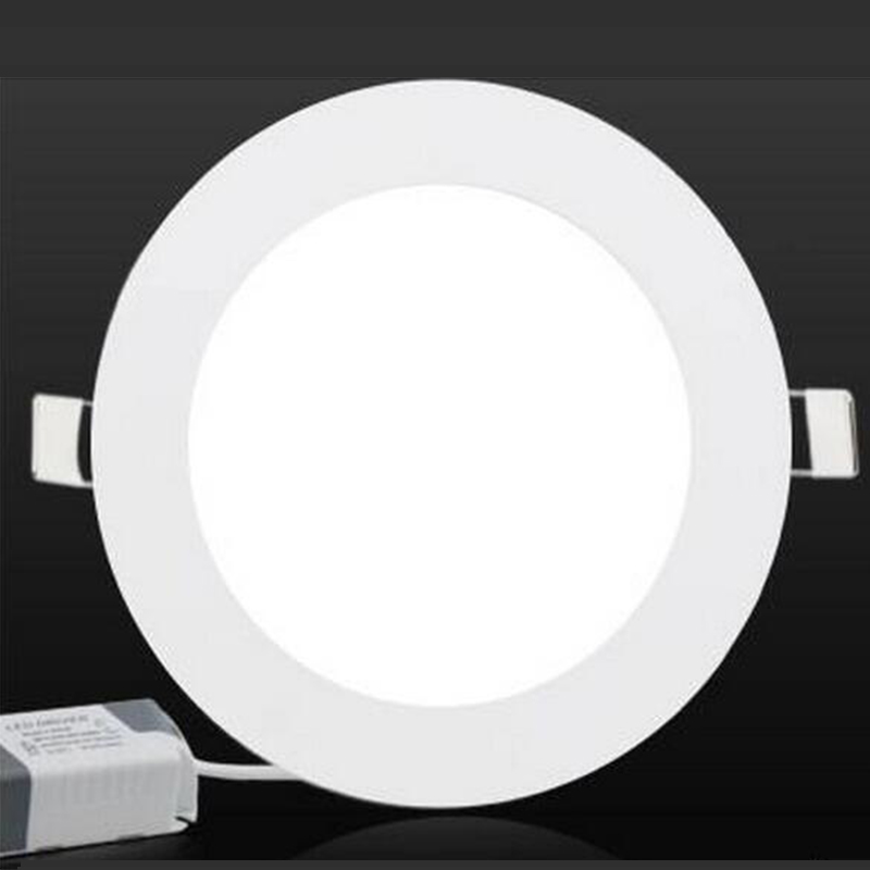 GLW Panel Lamp Dimmable LED Recessed 6W/9W/12W/15W/18W/20W 24W spot de de embutir teto ceiling lamps focos led empotrables round