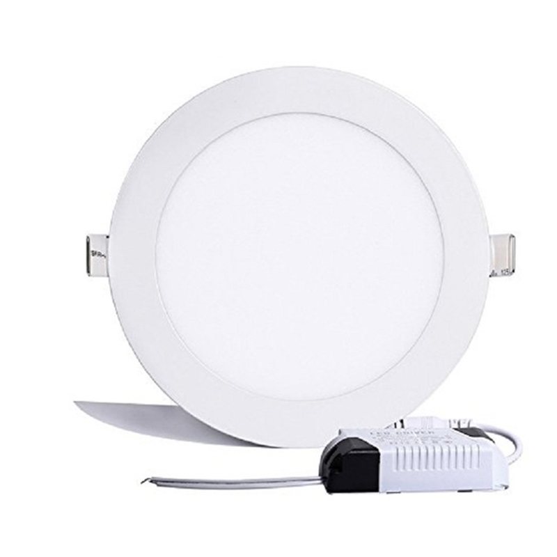 SinFull 24W Round LED Panel Light Ultra-thin Recessed Ceiling Lights 1680lm 3000-6000K 85-265V LED Ceiling Panel DownLight