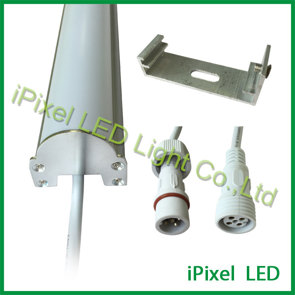 high brightness RGB DMX tube 10 led tube light for stage ,hotel,ceiling or wall
