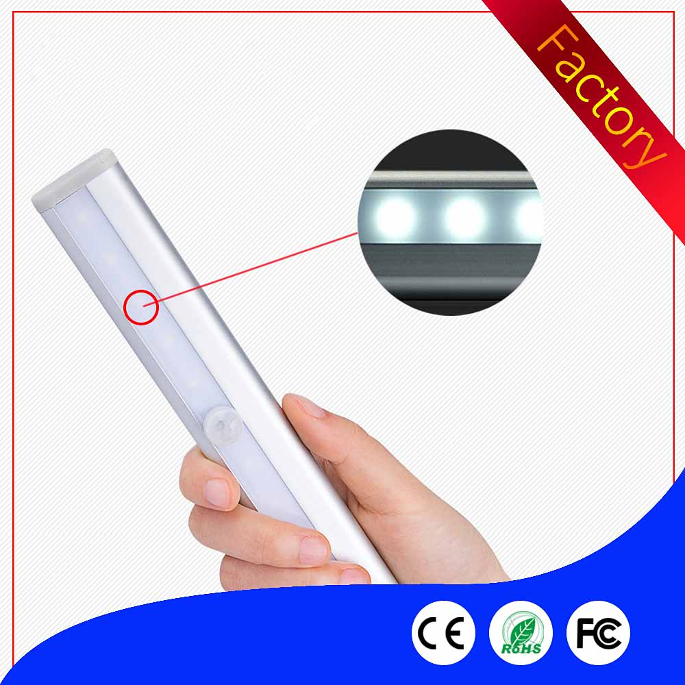 USB Rechargeable 10 LEDs Infrared IR Motion Sensor LED Wall Lights White/Warm White Night Light Battery Lamp Wardrobe Light