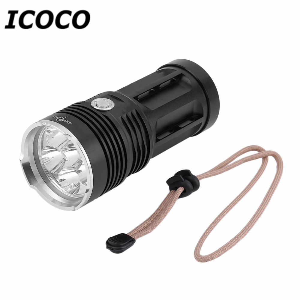 Portable Handheld T6 3/6/11/12 LED Aluminum Alloy Outdoor Hunting Flashlight Waterproof Super Bright Camping Fishing Torch