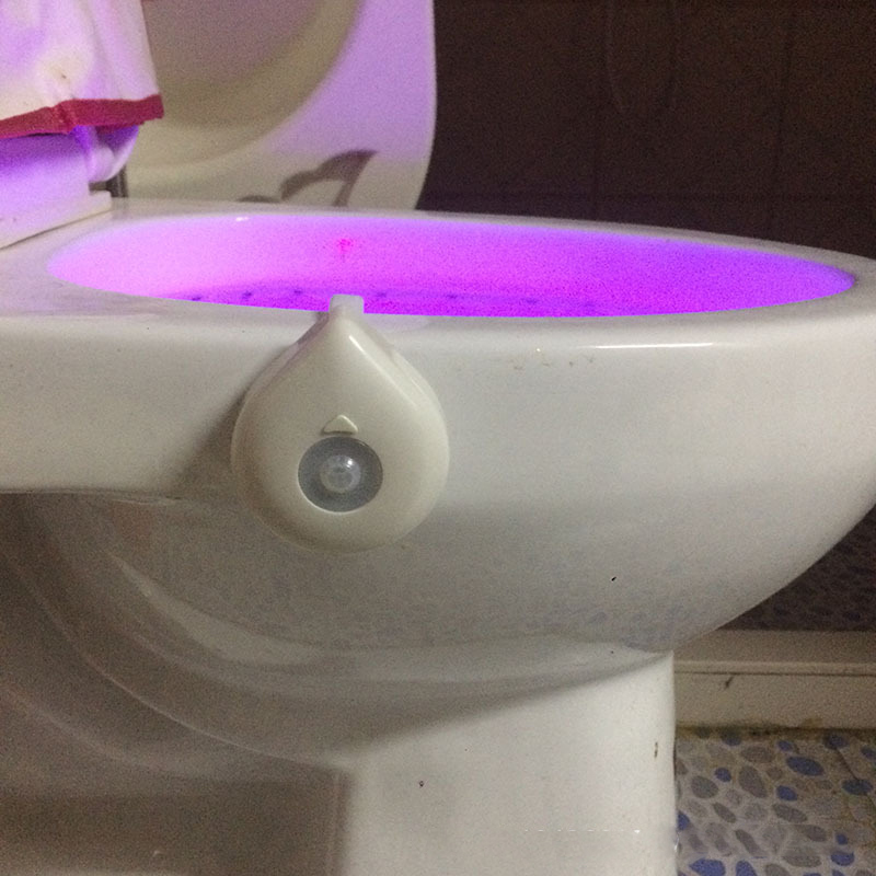 Smart Led Lamp With the Motion Sensor Bowl Light Emergency Toilet Night light WC Bathroom Light 8 Color Human Induction Lamp