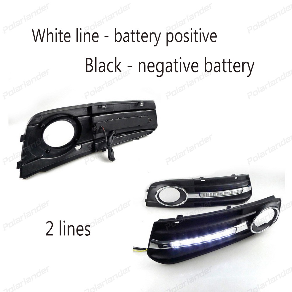 2 lines DAYTIIME RUNNING LIGHTS for A/udi A4 A4L B8 2009 2010 2011 2012 DRL daylight fog lamp cover