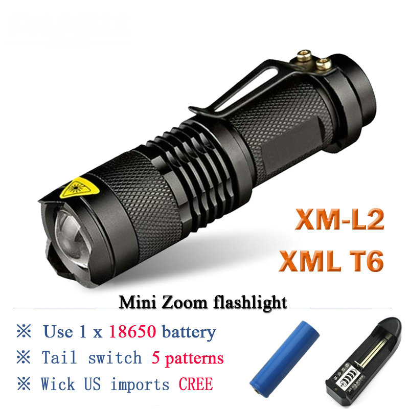 Rechargeable flashlight led torch XM L T6 XM L2 waterproof 3800 lumen 5 mode lanterna Camping flashlight lamp batteries 18650