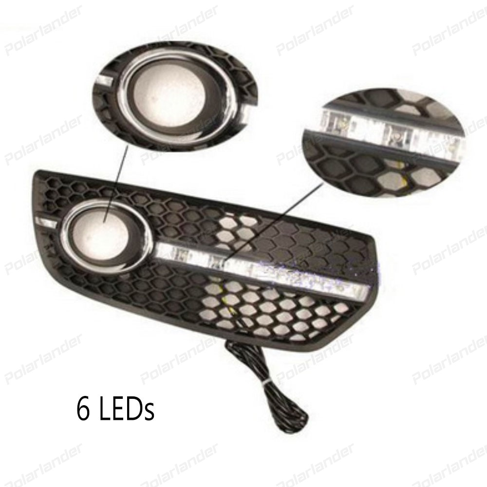 Daylight For A/udi Q5 2009 2010 2012 led DRL Daytime Running Lights Fog Lamp cover car styling