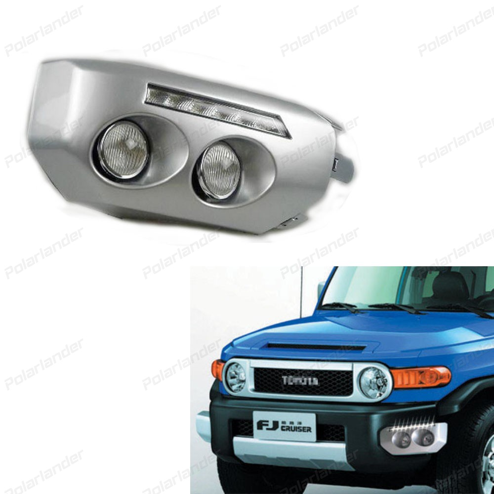 2 pcs Fog head lamp Daytime running light for T/oyota FJ cruiser 2011 - 2013 car styling 6000k LED DRL