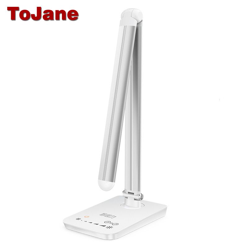 ToJane TG-168 Desk Lamp 5 Color Modes x 7 Dimable Levels Led Desk Lamp Reading 8W Eye-friendly Led Table Lamp Metal USB Light