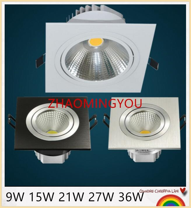 YOU 1PCS LED COB Downlight 9W 15W 21W 27W 36W 85-265V Surface Mounted Wall Spot light led for home Kitchen Bathroom Decor