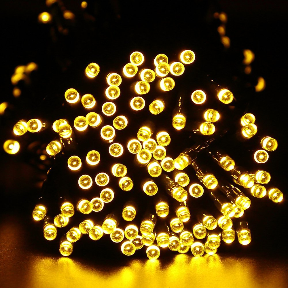 2PCS Outdoor 100 LED 200 LED  8 Modes Solar Powered String Light Garden Christmas Party Fairy Lamp 10M 22M Garden  Outdoor Yard