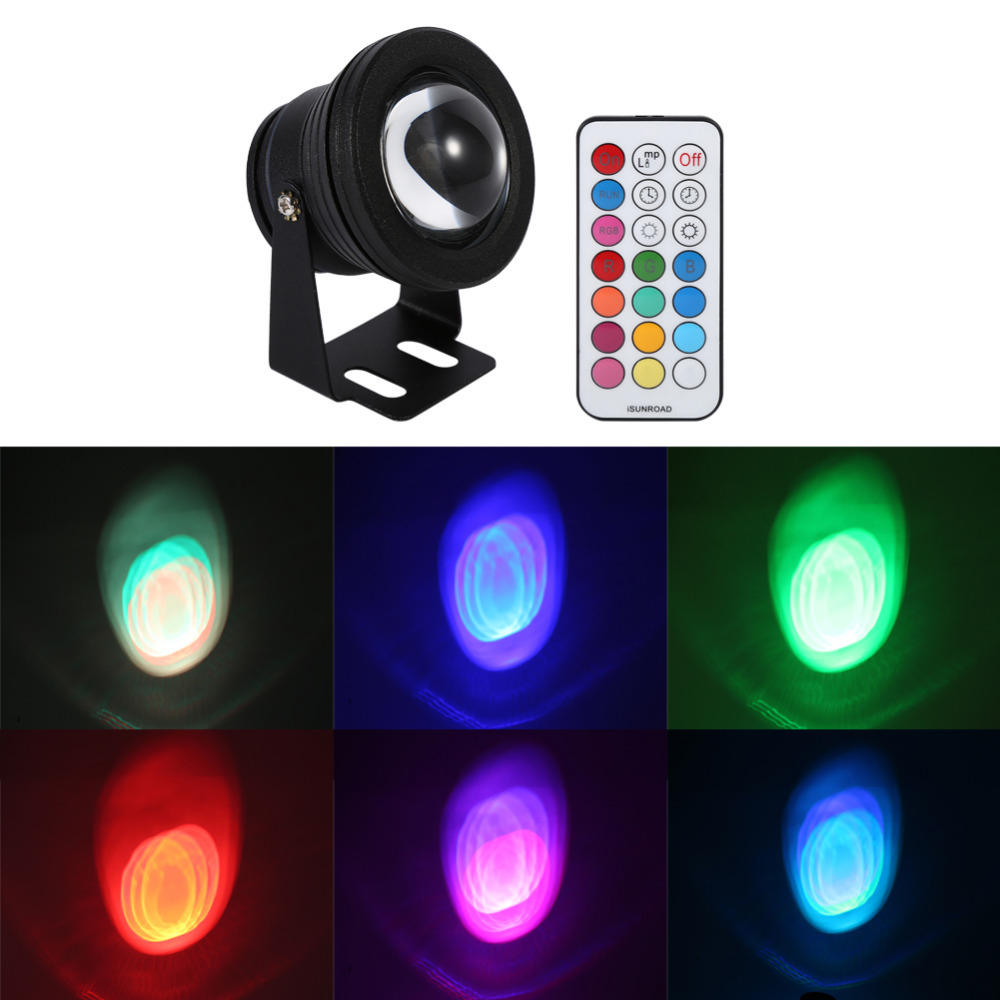 10W LED Underwater Light DC12V IP67 Waterproof Aquarium Swimming Pool Aquariums Lamp Color Changing Adjustable Fountain Lamp EU