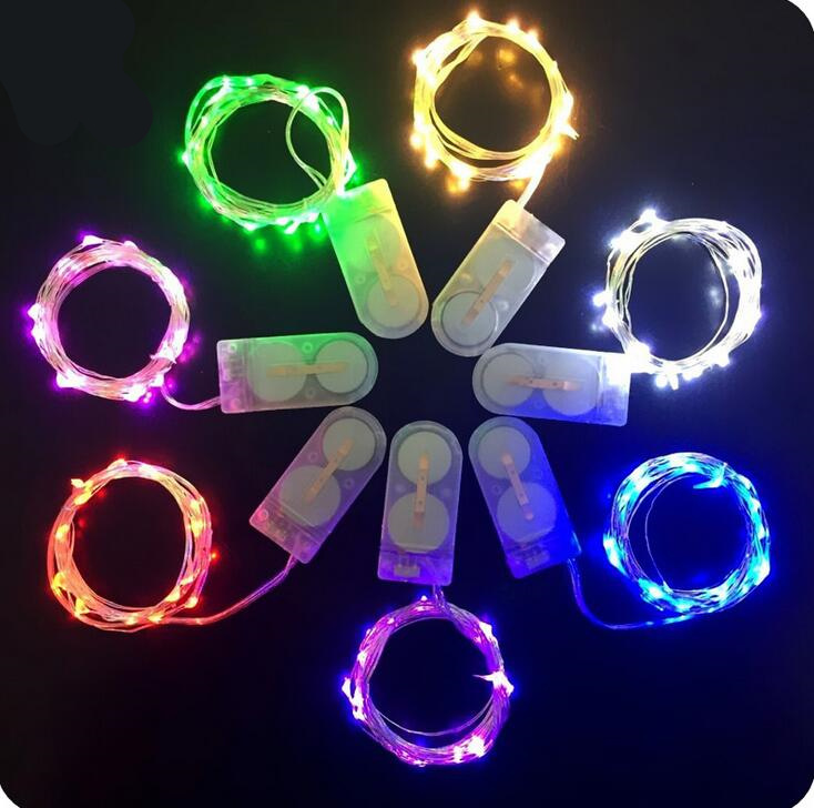 Best Decoration LED Copper Wire Strings Starry Lights in MINI Button Batteries Power