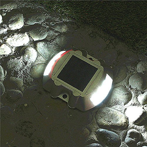 Lumiparty  Solar Deck Light LED Solar Dock Path Road Lights Marker lighting Waterproof Security Warning LightsOutdoor Stairs
