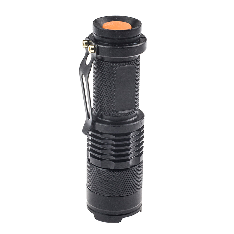 Black Aluminum alloy Mini LED Torchlight 14500/AA flashlight CREE Bulb XML Q5 LED Tactical torch hiking pocket lamp 3001