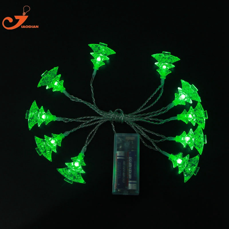Christmas Tree outdoor String Light curtain Battery Operated 10 LED Fairy Wedding Garden Home Bedroom Festival Holiday Decor