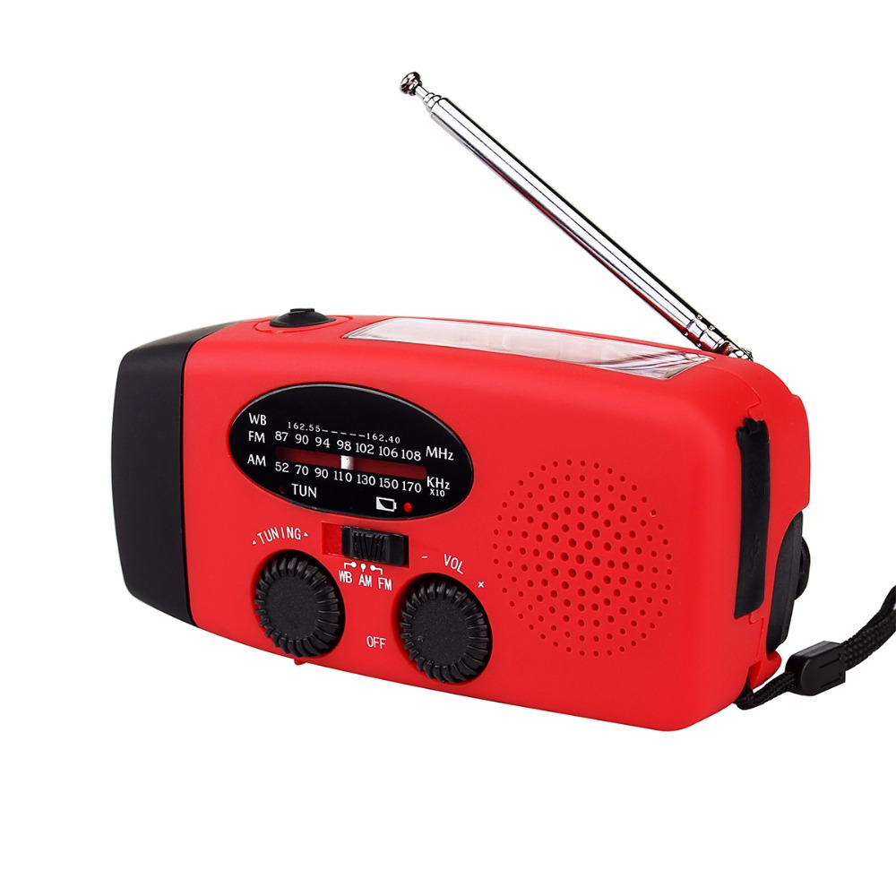 Dynamo Emergency Radio Solar Hand Crank FM/AM/NOAA Weather Radio Receiver Flashlight 3 LED Lighting Lamp Electric Torch Y4410C