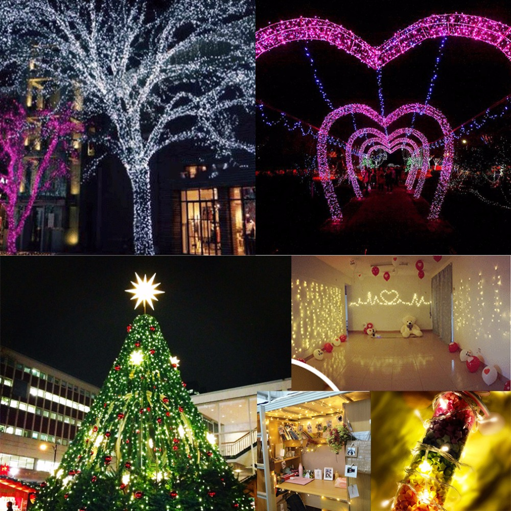 Waterproof Super Bright 10m 100led Silver Wire Christmas