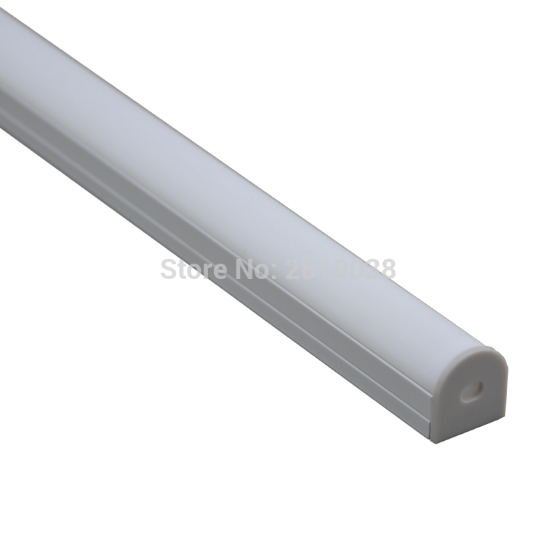 10 X 1M Sets/Lot U type Anodized Silver Aluminum led strip AL6063 Aluminium profiles for led lighting for suspension lamps