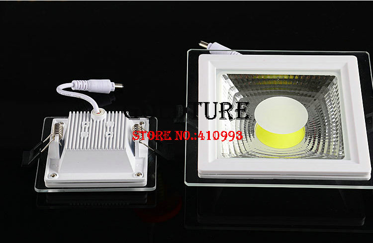 Embedded ceiling light 5W 10W 15W glass down light warm white cold white cob panel light