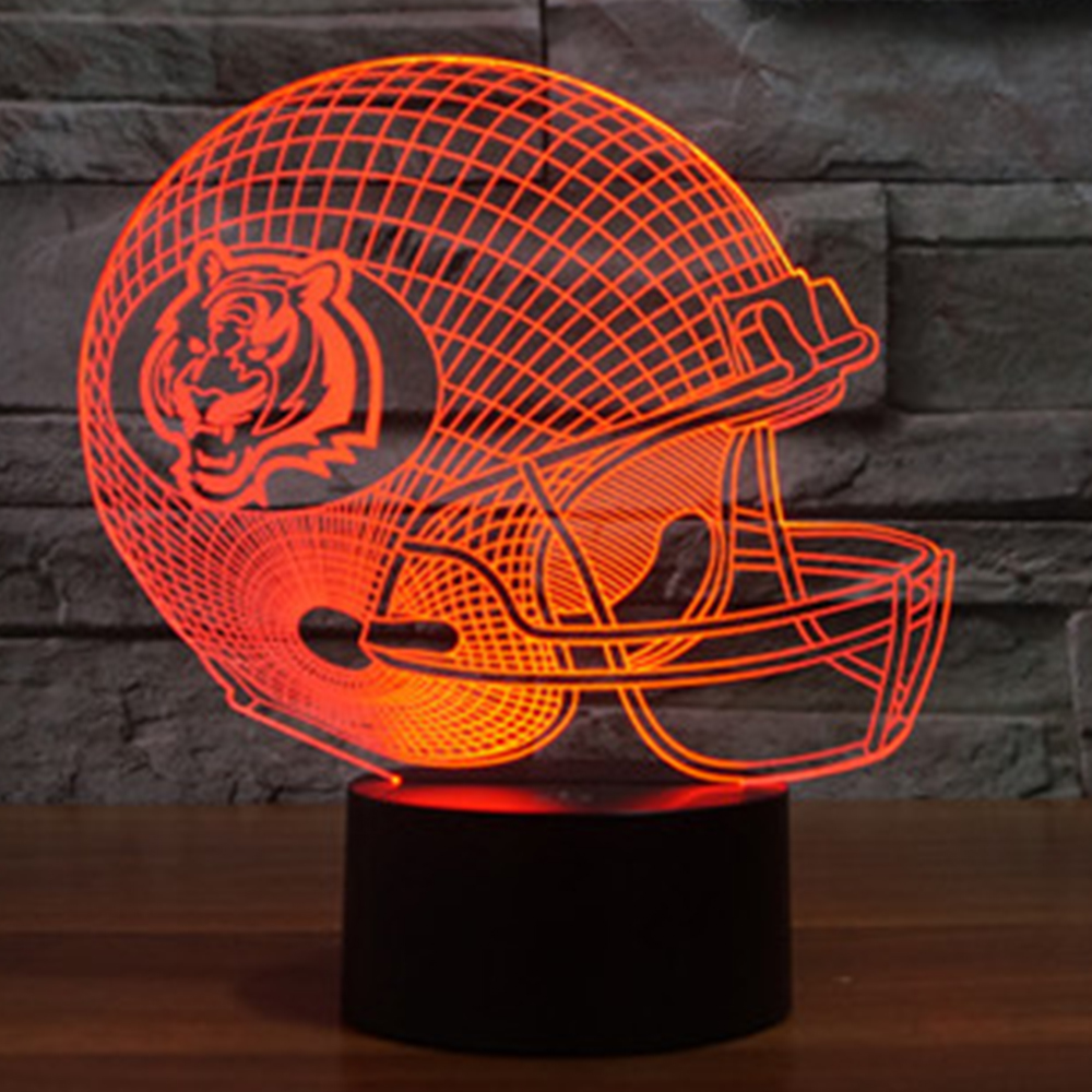 NFL Cincinnati Bengals 3D Night Light 7 color changing acrylic USB table desk Lamp touch switch light decor party gift IY803659