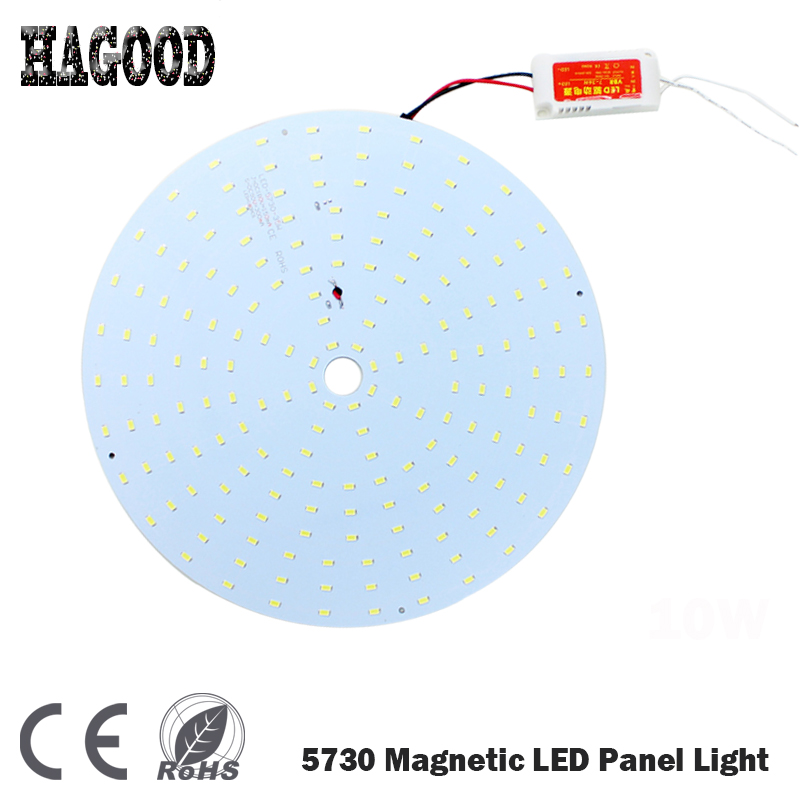 100pcs 180-265V 10W 15W 18W 21W 25W 35W 45W LED Panel Lamp Round Magnetic LED Ceiling Panel Light Plate Aluminium Board