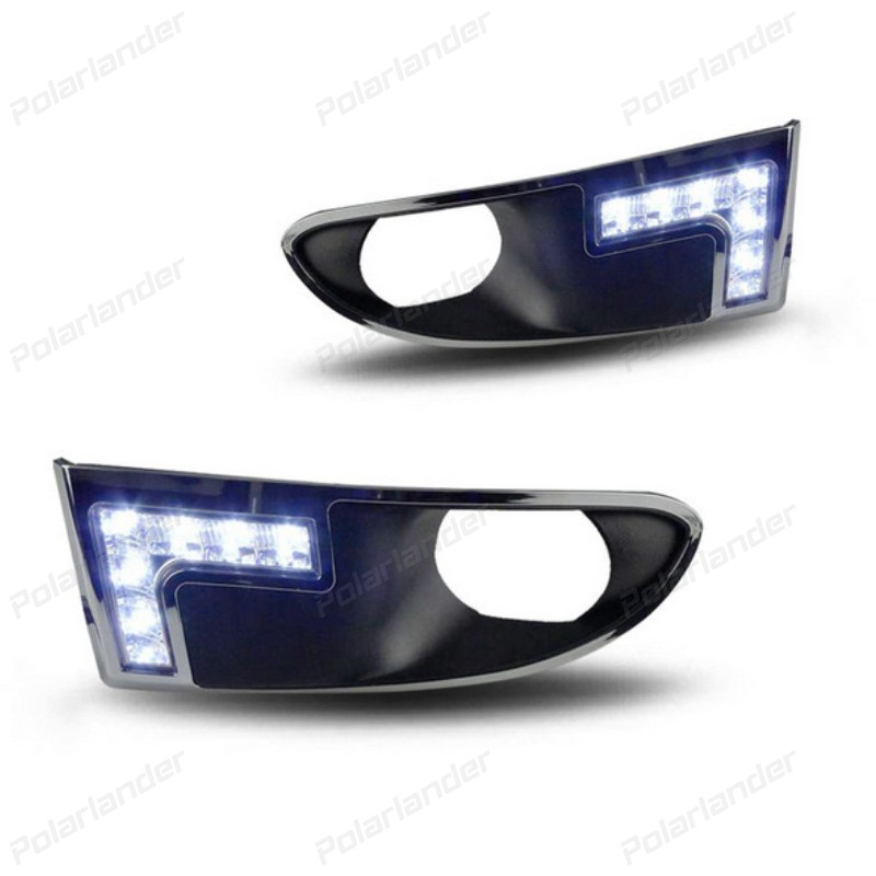 2X 7 LEDs Auto Daytime Running Light Head DRL 12V Car-styling for Dodge Caliber 2009-2011