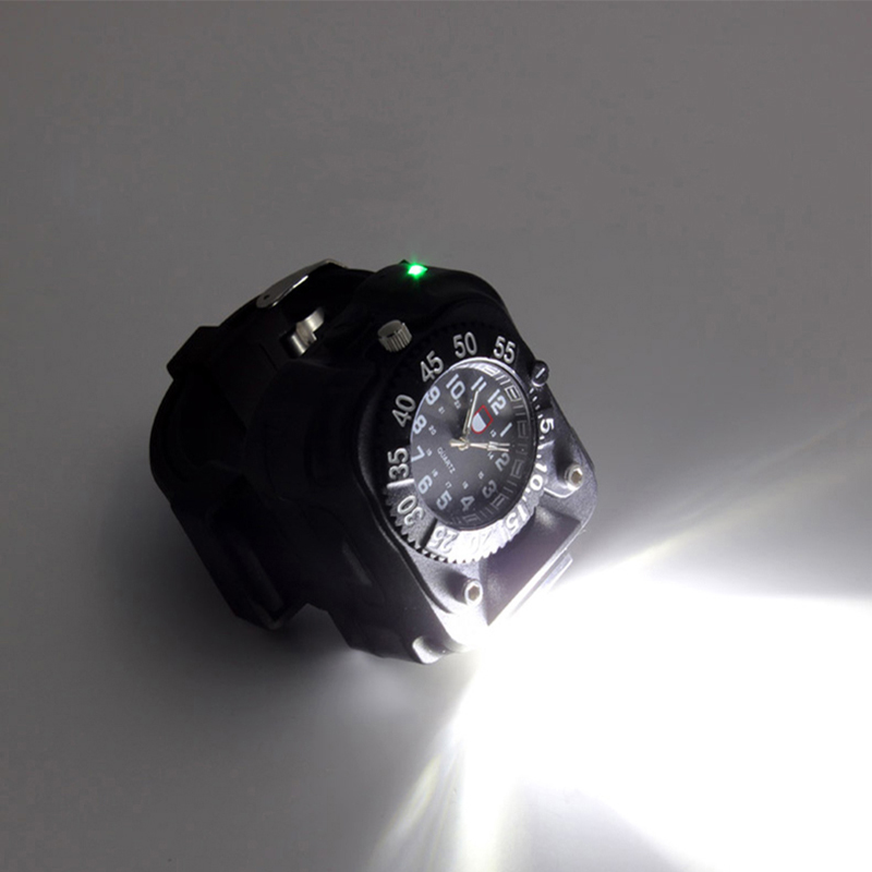 3 modes USB quartz watch flashlight lanternas cree XML T6 waterproof rechargeable battery 2000 lumen torch by gift box