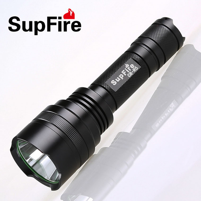 Outdoor Sports LED Flashlight CREE R5 450 Lumens 5W 5 Modes Rechargeable Handy Portable Torch Super Bright Long Shot High Power