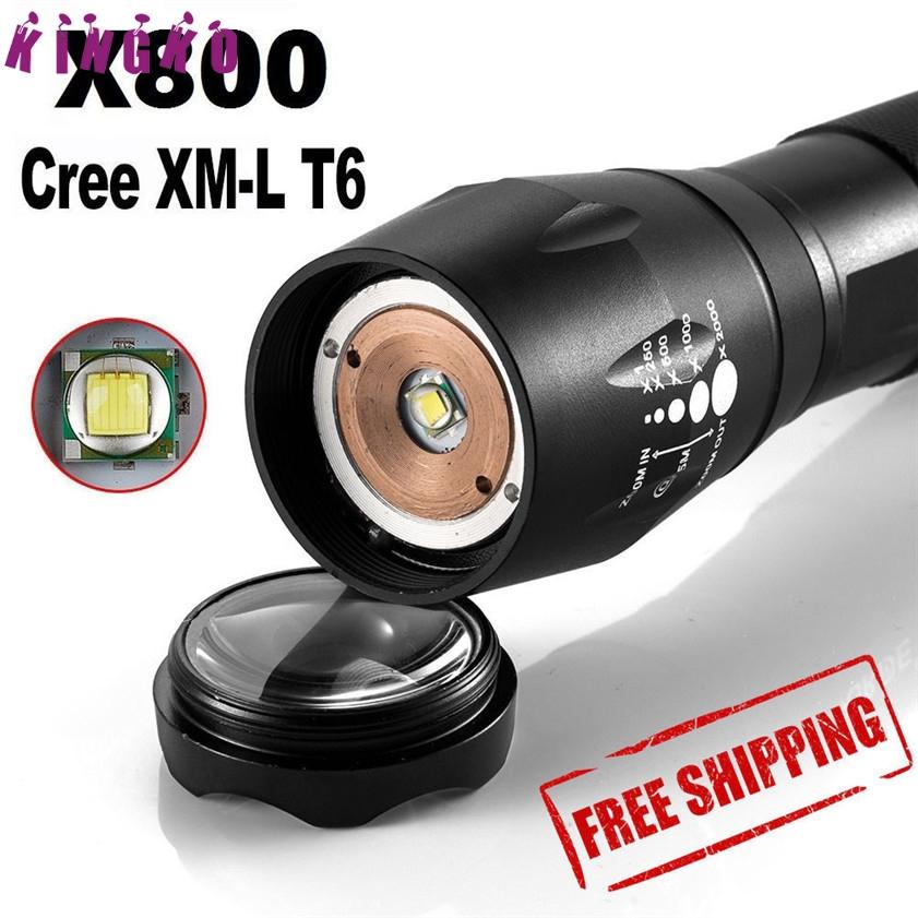 5000LM Tactical Zoom  XML T6 LED Militär Taschenlampen Torch X800 Sky Wolf Eye